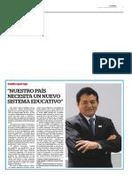 NUESTRO PAÍS NECESITA UN NUEVO SISTEMA EDUCATIVO