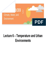 Lecture 6 - Surface Temperature