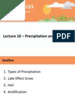 Lecture 10 - Precipitation and Acid Rain - A2L