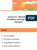Lecture 13 - Atmospheric Circulation and Long Range Transport - A2L