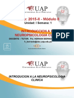 Semana 1 - Introduccion a La Neuropsicologia Clinica