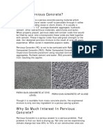 Pervious Concrete- What, Why, & Where