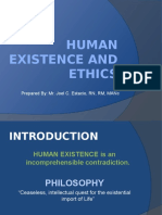 Human Existence and Ethics