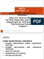 Unit-1 Lecture-4 - Light Weight Construction Materials by Brig. S.K. Sharma