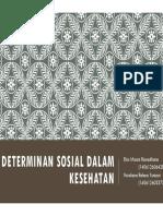 Determinan Sosial Dalam Kesehatan