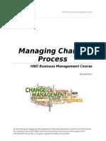 Managing Change Process
