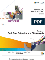 Topic 1 Cash Flow Estimation