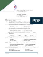 First Quarter Science 9Final