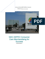 Consumer Behavior Assignment on Wipro
