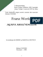 Franz Werfel-Agapa Absolventilor (1)