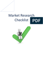 Market Research Checklist1