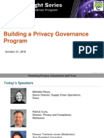 Building a Privacy Governance Program | TRUSTe Privacy Webinar