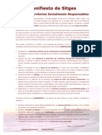 Manifiesto de Sitges por unos Territorios Socialmente Responsables