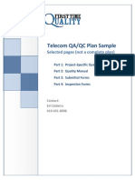 Telecom Quality Plan Sample