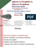 APS 08 Graphene Tutorial Dresselhaus