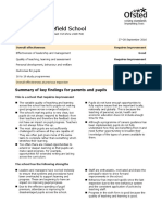 Pudsey Grangefield School - Ofsted Report