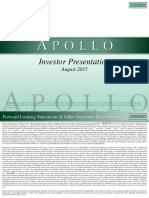Apollo Global Management, LLC August Investor Presentation