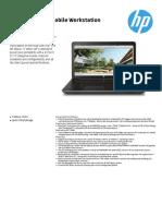 HP Zbook 17 G3 Mobile Workstation Datasheet