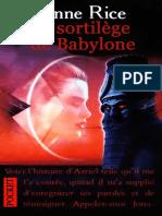 Le Sortilège de Babylone Anna Rice