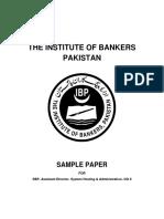 SBP Assisstant Director System Hosting OG-II Sample Paper