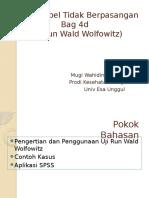 Pertemuan 10 Uji Wald Wolfowitz Wahid