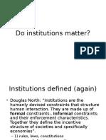 Do Institutions Matter