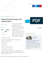 Diagnosing and Curing a Sick Solenoid Valve