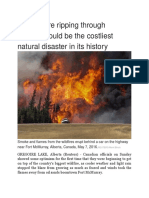 The Wildfire Ripping Through Canada Could Be the Costliest Natural Disaster in Its History