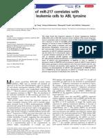 Downregulation of MiR-217 Correlates With Resistance of Ph Leukemia Cells to ABL Tyrosine Kinase Inhibitors