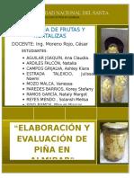 Elaboración y Evaluación de Piña en Almibar