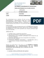 Acta Segunda Asamblea General Extraordinaria de Copropietarios 3-10-15