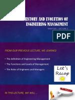 EMGT101_LEC2_History and Evolution of Engineering Management