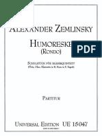 Zemlinsky Humoreske Score