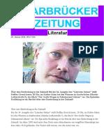Hinweis auf Urlesung von Steffen Gresch