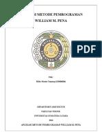 Aplikasi Metode Pemrograman William m Pena