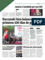 Kuczynski Hizo Balance de Sus Primeros 100 Días de Gobierno