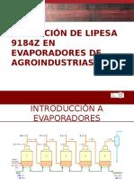 Aplicación de Lipesa 9184 en Evaporadores de Agroindustria