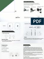 Truly Wireless Lancube HC-S0362 HC-S0362 Operation Book Wireless Headphones