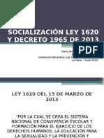 Socialización Ley 1620 y Decreto 1965 de 2013