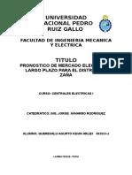 Pronostico de Mercado Electrico de Saña