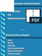 Parts of Reports:Three Components of Formal Reports