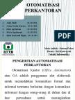 Kelompok 6 Otomatisasi Perkantoran Tifr13p Sistem Pakar