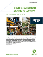 Oxfam GB Statement on Modern Slavery