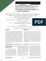 Acuracia de Metodos de AGV e Alcalinidade a Bicarbonato