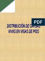 Distribución de Cargas Vivas en vigas de Piso de puentes.