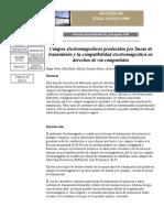 Campos Magneticos Producidos Por Lineas de Transmision y La Compatibilidad Electromagnetica en Derechos de via Compartidos