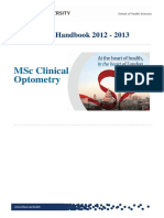 13 Programme Handbook MSc Clinical Optometry Feb 13