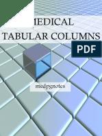Medical Tabular Columns Sample