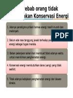 Penyebab Orang Tidak Melakukan Konservasi Energi