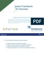 T3IF1 Integration Framework Overview R15
